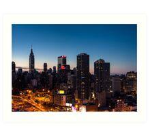 Sunrise in New York City Art Print