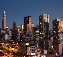 Empire State Building in Purple by Arata