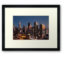 Empire State Building in Purple Framed Print