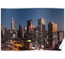Empire State Building in Purple Poster
