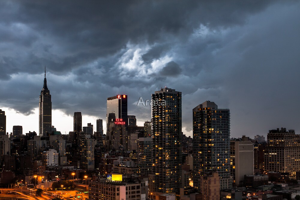 New York City Under Stormy Sky by Arata