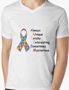 Autism Fact Mens V-Neck T-Shirt