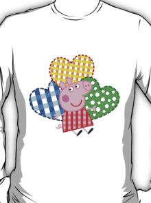 Peppa Pig Hearts T-Shirt