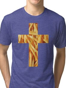 Fries - Cross Tri-blend T-Shirt