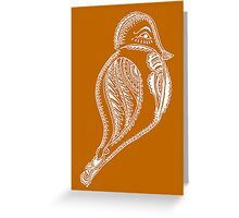 Journey Bird Rest White Greeting Card