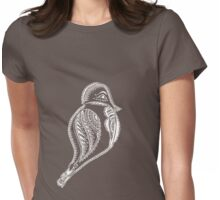 Journey Bird Rest White Womens Fitted T-Shirt