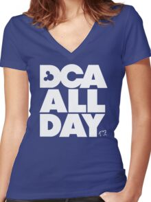DCA All Day Women's Fitted V-Neck T-Shirt