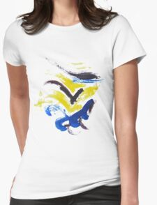 Yellow,blue,purple Womens Fitted T-Shirt