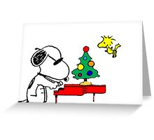 Snoopy on Piano Greeting Card