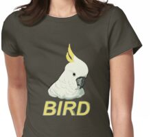 BIRD - Sulphur-crested Cockatoo Womens Fitted T-Shirt