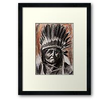 Drawing of Chief Geronimo Framed Print