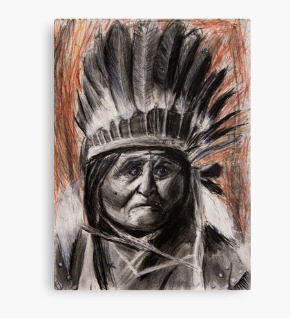 Drawing of Chief Geronimo Canvas Print