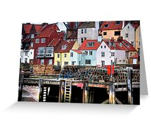 """Colourful Whitby"" Greeting Card"