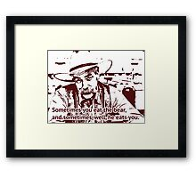 The cowboy in Big lebowski movie Framed Print