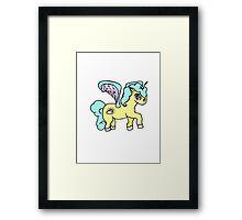 Cloudy Unicorn Framed Print