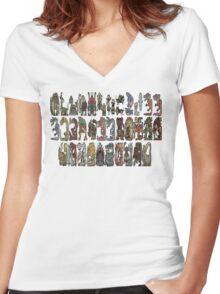 Monster Hunter Tri- Monster Emblems Women's Fitted V-Neck T-Shirt