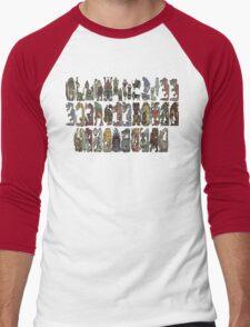 Monster Hunter Tri- Monster Emblems Men's Baseball ¾ T-Shirt