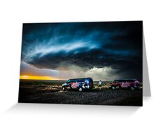 Storm Chasing in Kansas Greeting Card