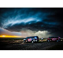 Storm Chasing in Kansas Photographic Print