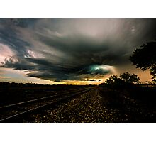 Storm Chasing in Texas Photographic Print