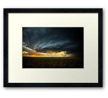 Storm Chasing in Kansas Framed Print
