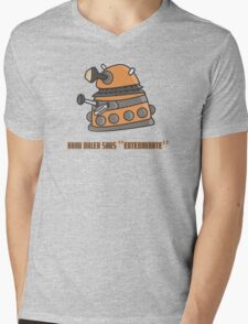 Baby Dalek says Exterminate Mens V-Neck T-Shirt