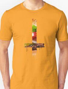 Upside Down Cross Burger T-Shirt