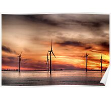 Wind Powered Sunrise Poster