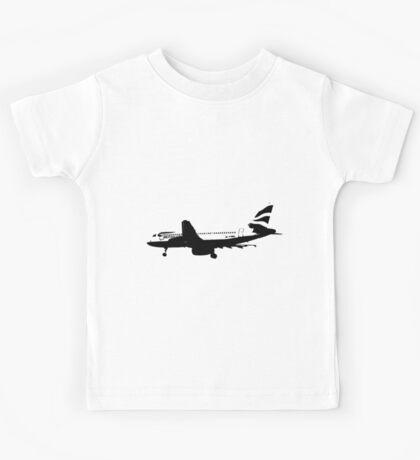 BA A320 B&W Kids Tee