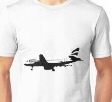 BA A320 B&W Unisex T-Shirt