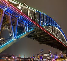 Harbour Bridge - Vivid Festival by Peta Jade