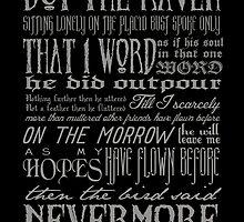 Edgar Allan Poe RAVEN typography by themoderngeek