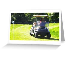 Golf Buggy Greeting Card