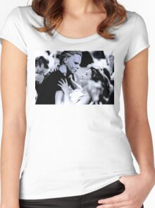 Michael Myers in Dirty Dancing Women's Fitted Scoop T-Shirt