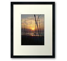 Beach Sunrise V Framed Print