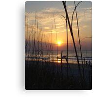Beach Sunrise V Canvas Print
