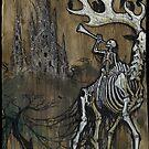 Ghost Elk and Bone Church - Gather Bones album art by Brian Engh