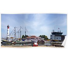 Panorama of Picturesque Ouistreham Port Poster