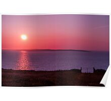 Aran Islands Sunset Poster