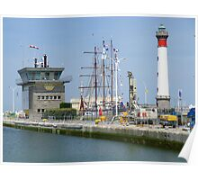 Another view of Ouistreham, the port town of Caen. Poster