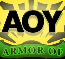 """Armor of YAH """"AOY"""" Color Sticker"""