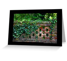 Planting Fields Arboretum State Historic Park Red Brick Wall Covered With Ivy - Upper Brookville, New York Greeting Card