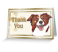 Red Tri Australian Shepherd Portrait Greeting Card