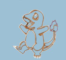 Charmander Outline Kids Clothes