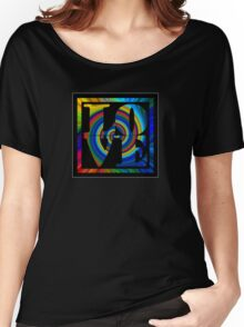 retro color spiral square love t (small front) Women's Relaxed Fit T-Shirt