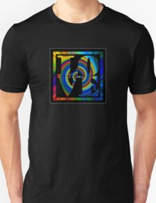 retro color spiral square love t (small front) Unisex T-Shirt