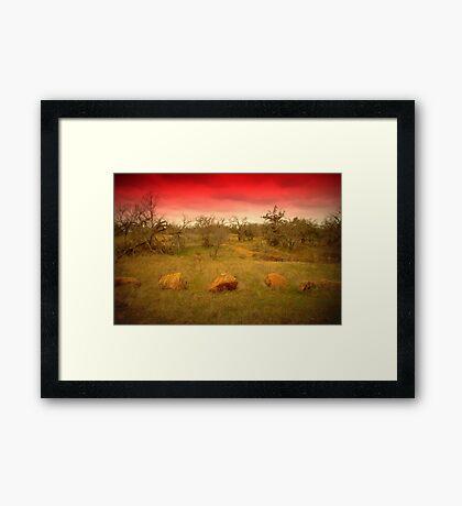 Three Rocks to a Pass Framed Print