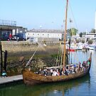 Viking Ship, Cherbourg Harbour, with a Party on Board by GregoryE