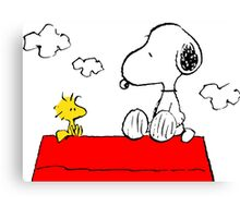 Snoopy & Woodstock Canvas Print