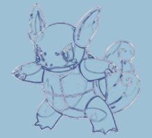 Wartortle Outline Kids Clothes